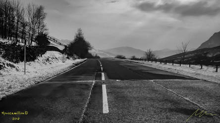 Deserted Road by Mouseamillion