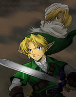 Link and Sheik by Umbra-Neko