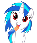 Vinyl Scratch is Licking the Screen!!