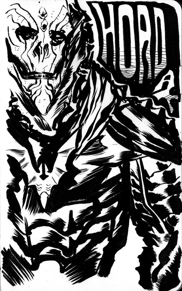 MOTU Hordak sketch by francesco-biagini