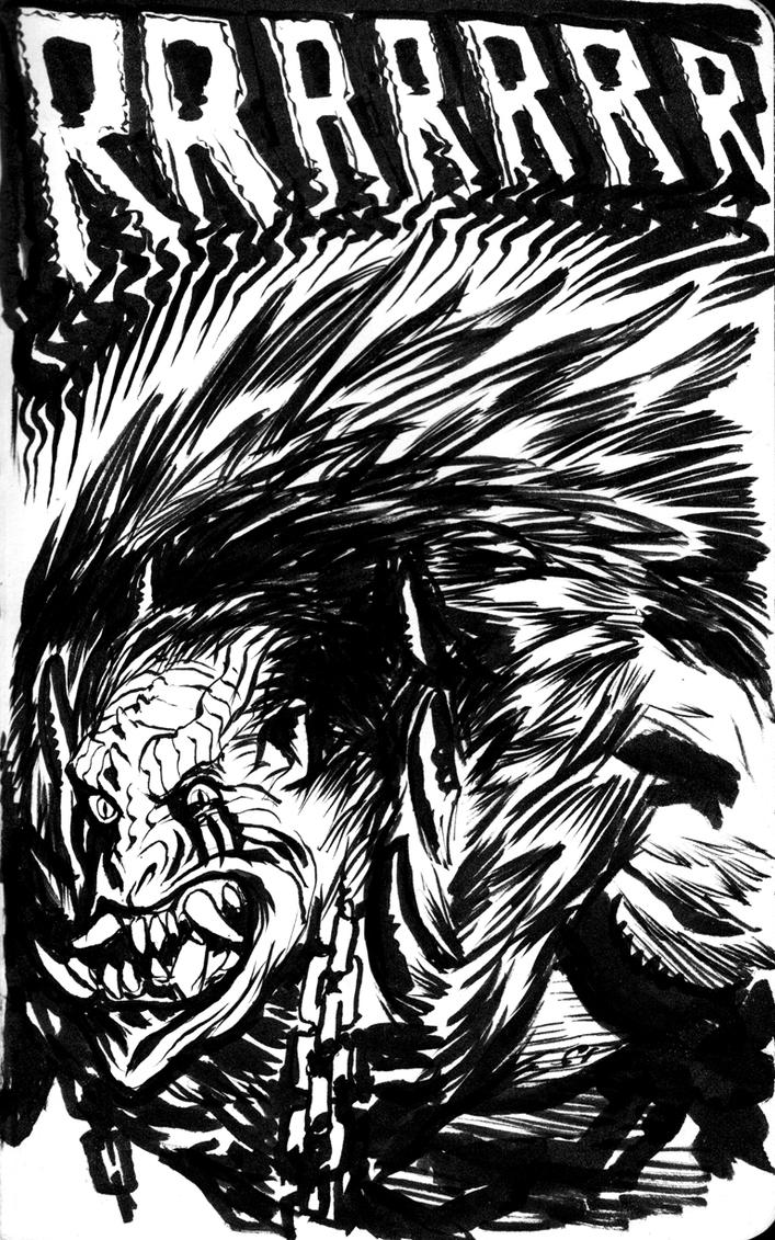 MOTU Beast-Man sketch by francesco-biagini