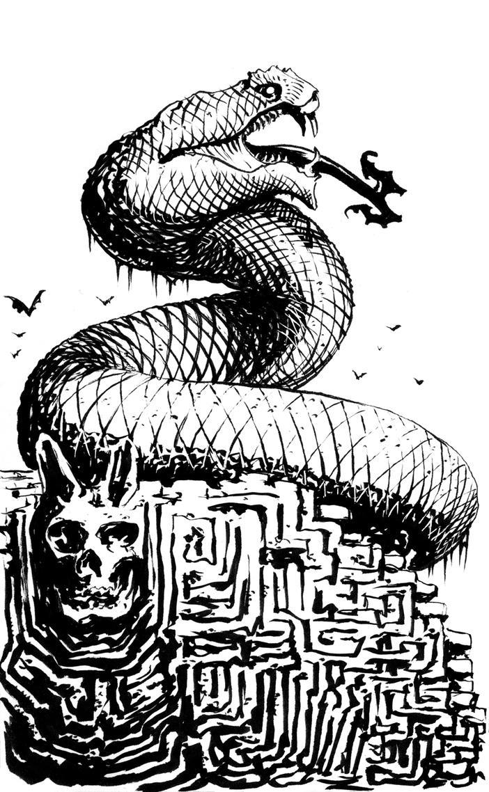MOTU - Snake Mountain sketch by francesco-biagini