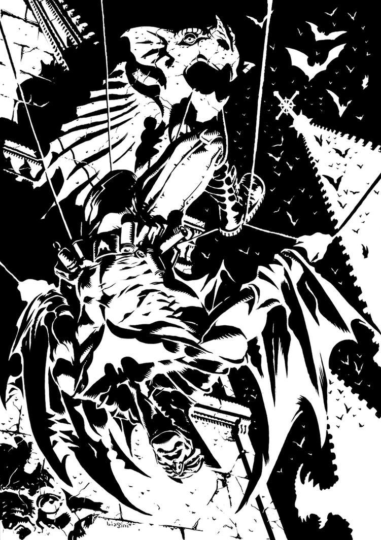 Bats over Gotham by francesco-biagini