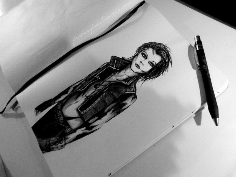 my dark knight sketchbook, Andy Biersack by Farbenfrei