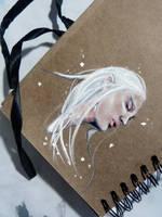 THRANDUIL - toned paper sketch by Farbenfrei