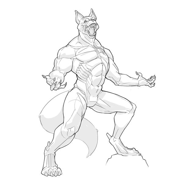Commission #8 - Werewolf Sketch by DailyCommission on ...