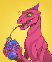 Birthday raptor by Kociepierogi