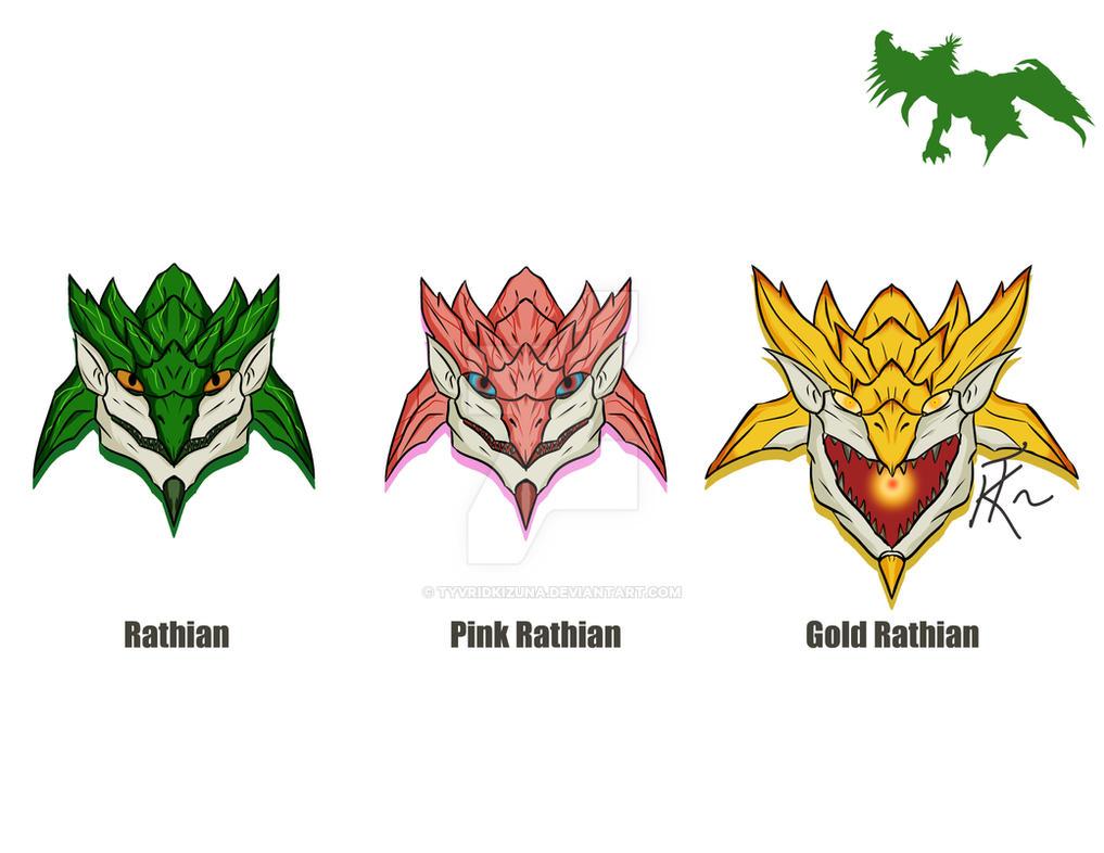 Rathian Family by TyvridKizuna on DeviantArt Gold Rathian And Silver Rathalos