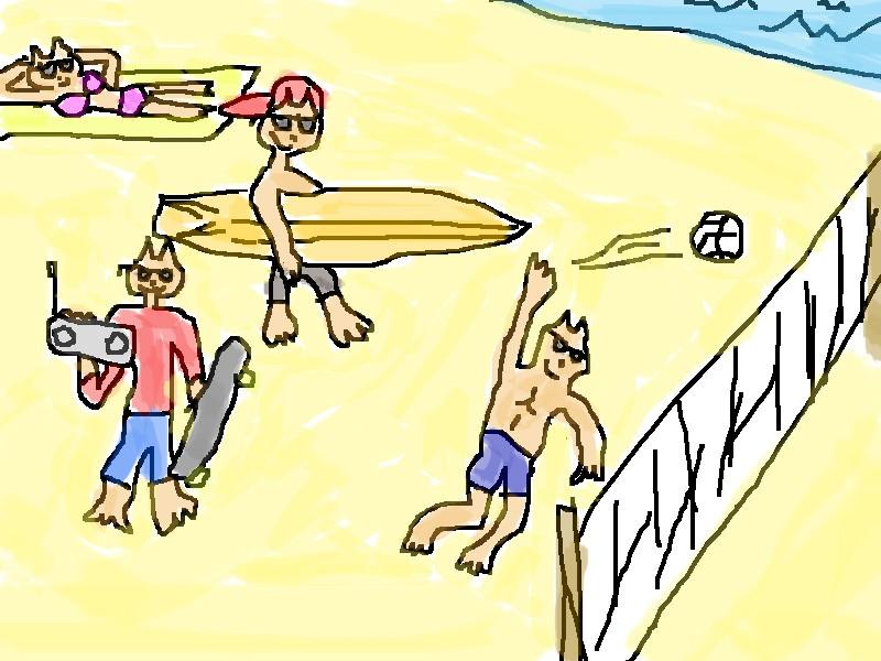 Cat Beach by cybermutiny