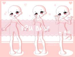 Girl chibi base [P2U] by Neill-Ayane