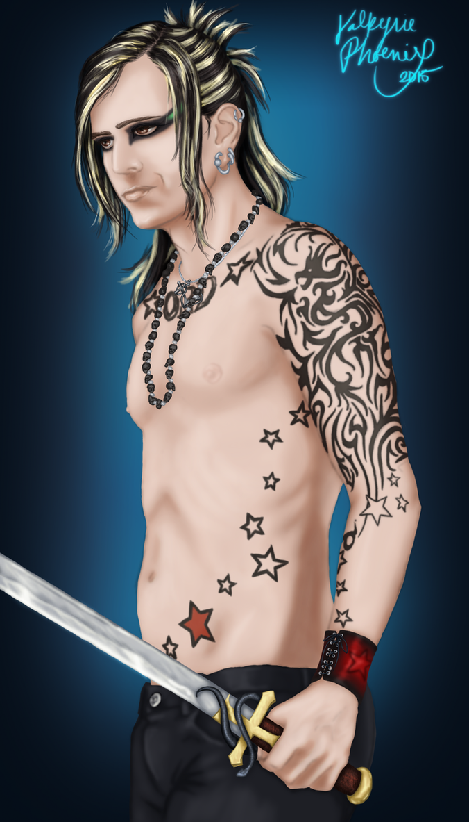 Lord of the Lost: Chris Harms by ValkyriePhoenix