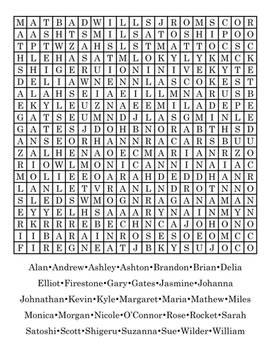 Word Search Version One
