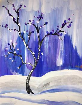 Art Therapy Winter Scene