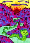 Green Sea Serpent and Purple Hills