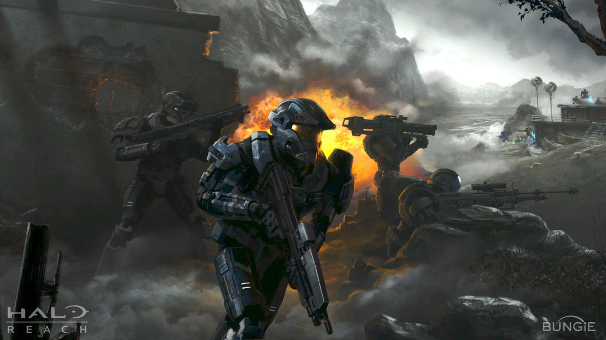 halo reach wallpaper firefight by giovannimicarelli on