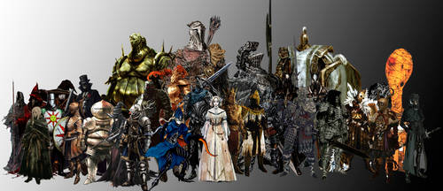 Dark Souls main characters by GIOVANNIMICARELLI