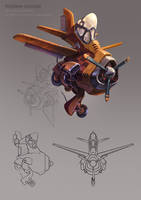 Airplane concept by DinoDrawing