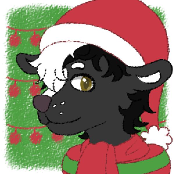 Sebastian Christmas Icon by WoofleSwift