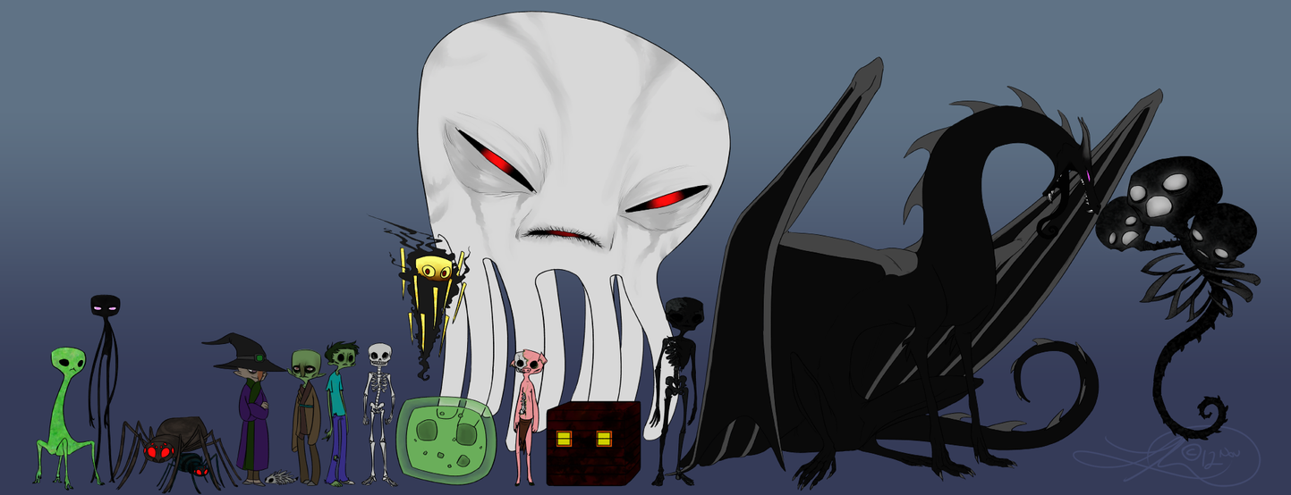 Minecraft Hostiles by SerMonster