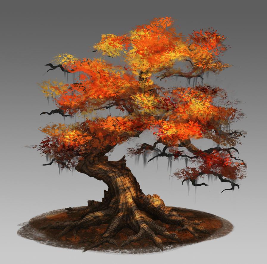 Dragonleaf Tree by DanRobArt