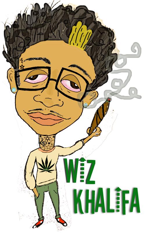 cartoon wiz khalifa by rickee16