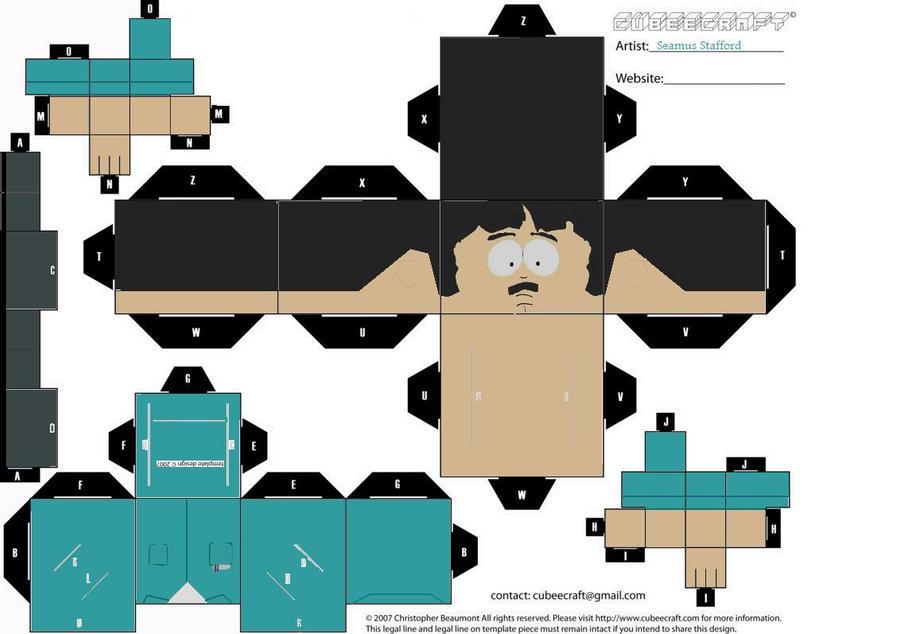 Randy Marsh - Cubeecraft by The-Cubeecrafter