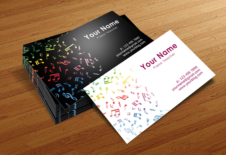Musician Business Cards Templates by BorceMarkoski on