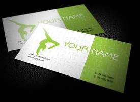 Free Yoga Teacher Business Cards Design by BorceMarkoski