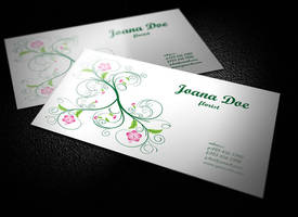 Clean-and-Elegant-Floral-Business-Card-Design by BorceMarkoski