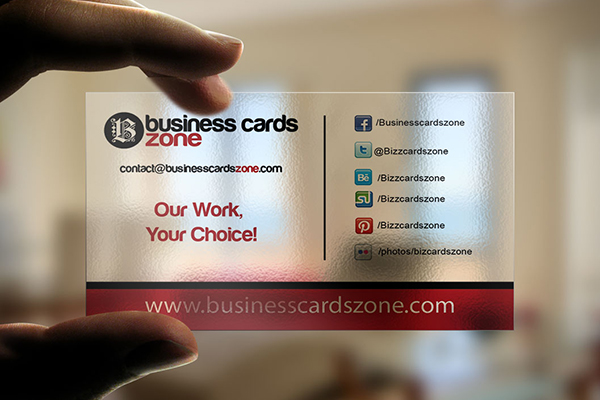 Stylish transparent business card transparent business cards black businesscardszone transparent plastic card by borcemarkoski on transparent business card template fbccfo Image collections