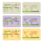 Free Rounded Wold Map Business Card Template