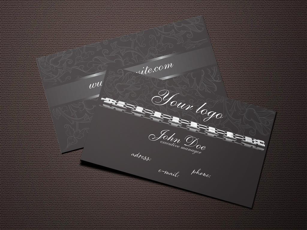Dark Jewelry Business Card Free Template by BorceMarkoski on ...