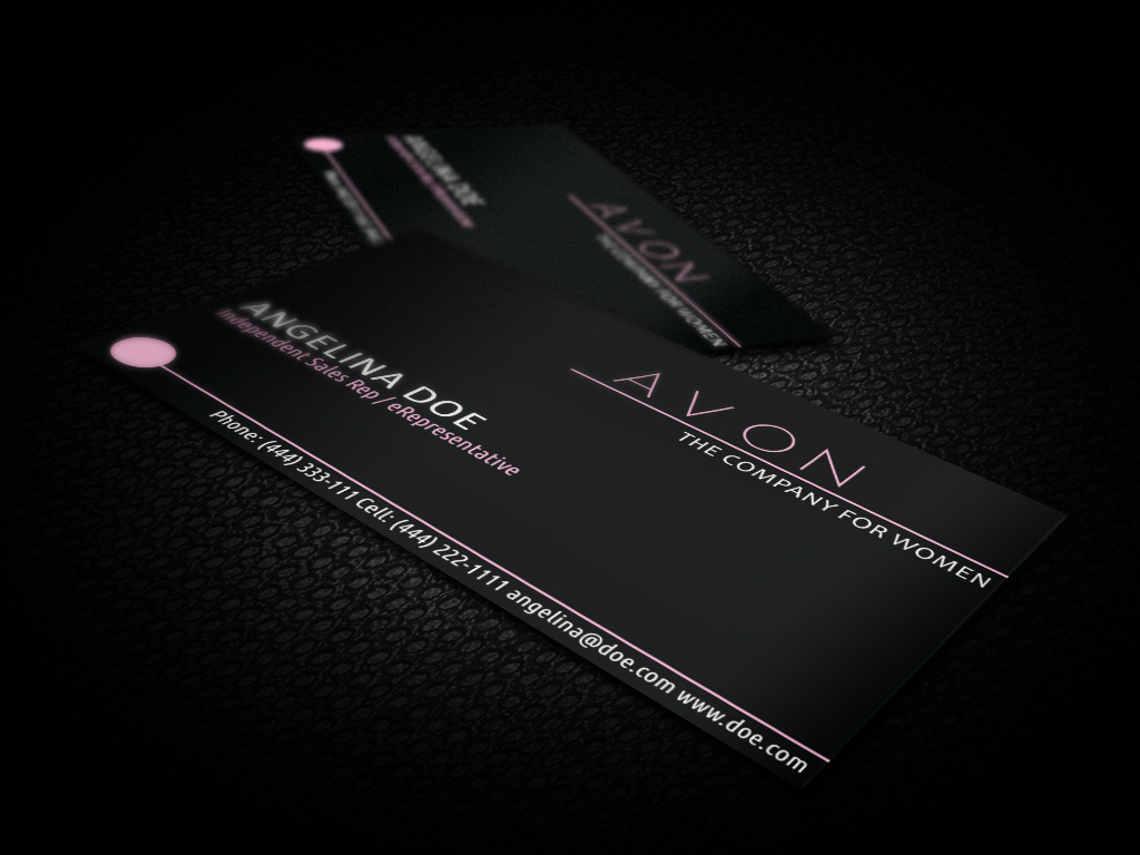 Black avon business card template free vector file by borcemarkoski reheart Choice Image