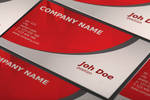 Free Abstract Red Business Card Template