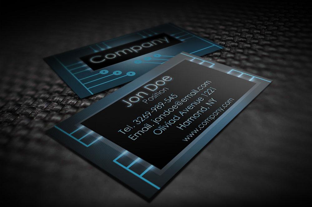Digital Business Card : Modern electronic business card templates by borcemarkoski