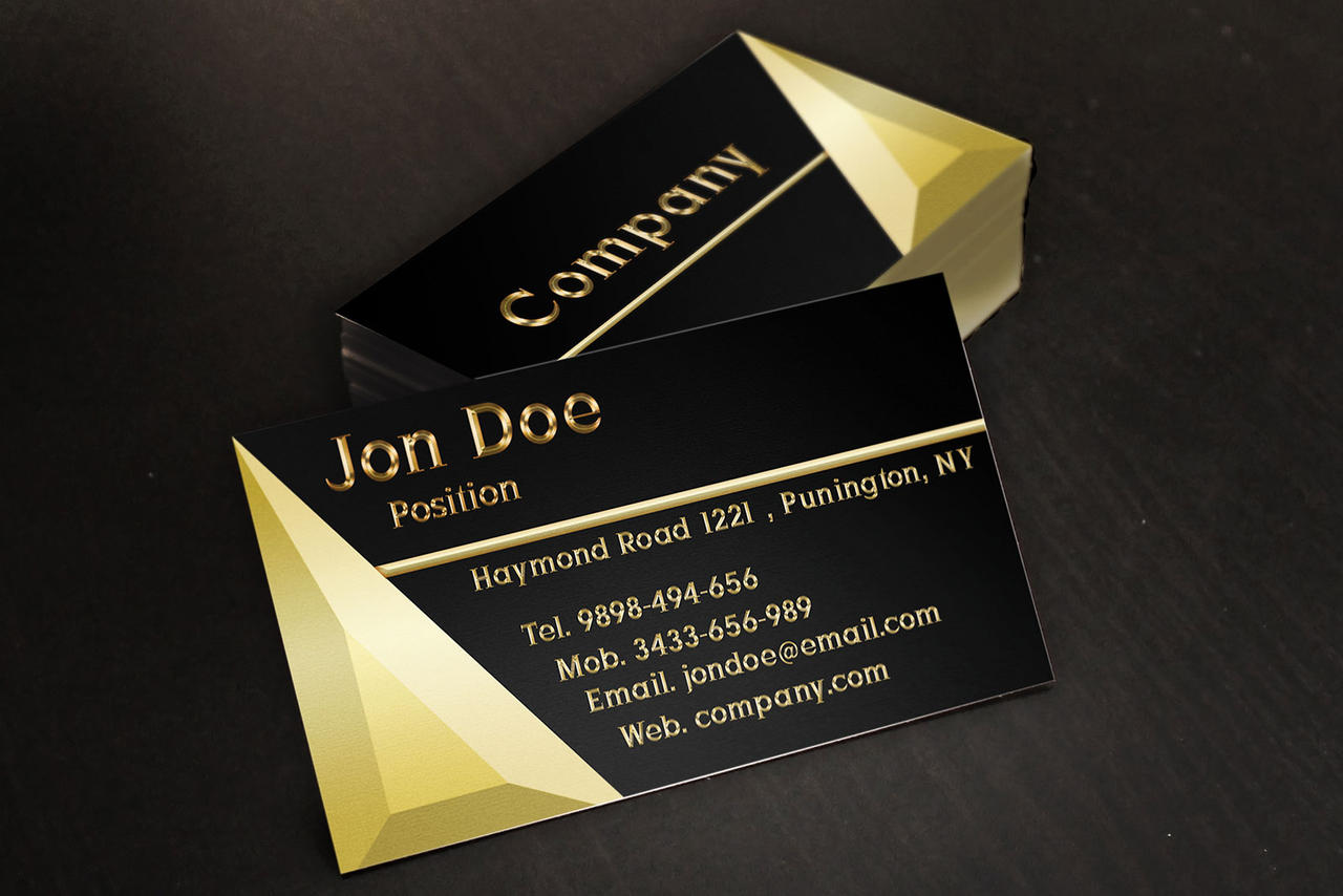 black and gold jewelry business cards template by borcemarkoski on deviantart. Black Bedroom Furniture Sets. Home Design Ideas