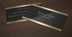 Black and Gold Fashion Designer Business Card