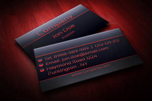 Modern Black and Red Business Card Template by BorceMarkoski