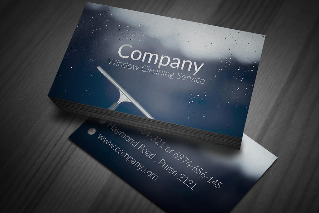 Window Cleaning Business Cards by BorceMarkoski on DeviantArt