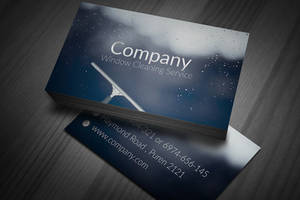 Window Cleaning Business Cards by BorceMarkoski