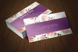 Floral Business Card Template by BorceMarkoski
