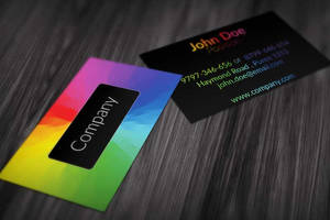 Colorful Business Card Design by BorceMarkoski