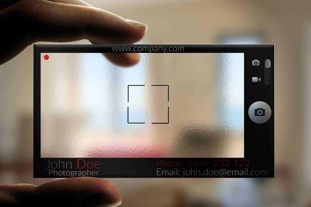 Transparent Photographer Business Card by BorceMarkoski on DeviantArt