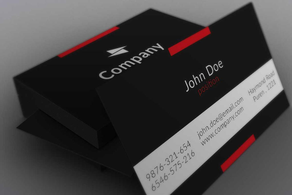 Minimalistic black business card template by borcemarkoski on deviantart minimalistic black business card template by borcemarkoski reheart Choice Image