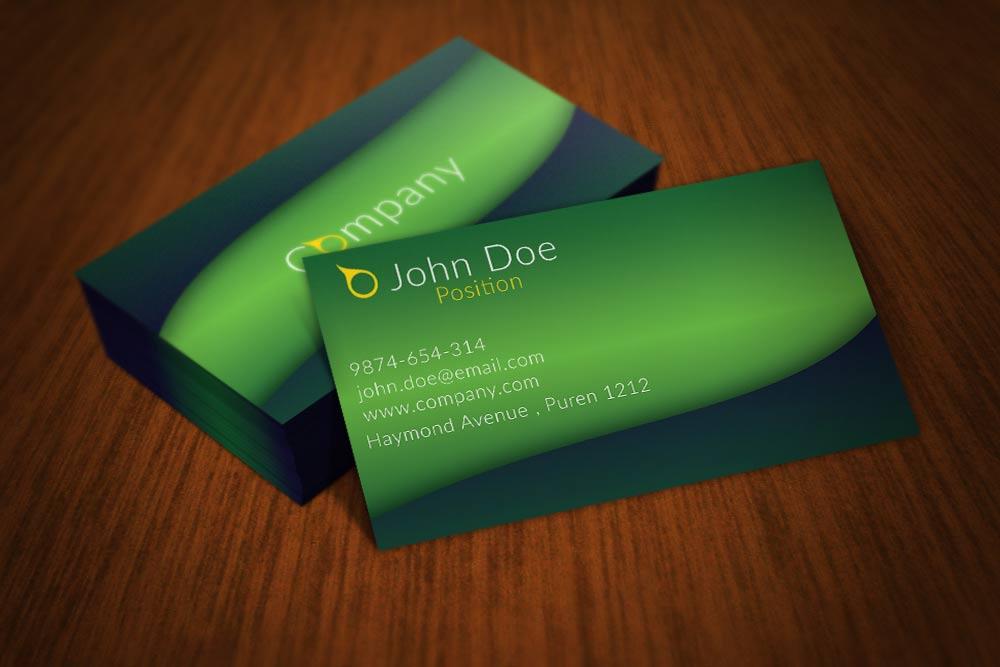 Blurred Green Business Card Design by BorceMarkoski on DeviantArt