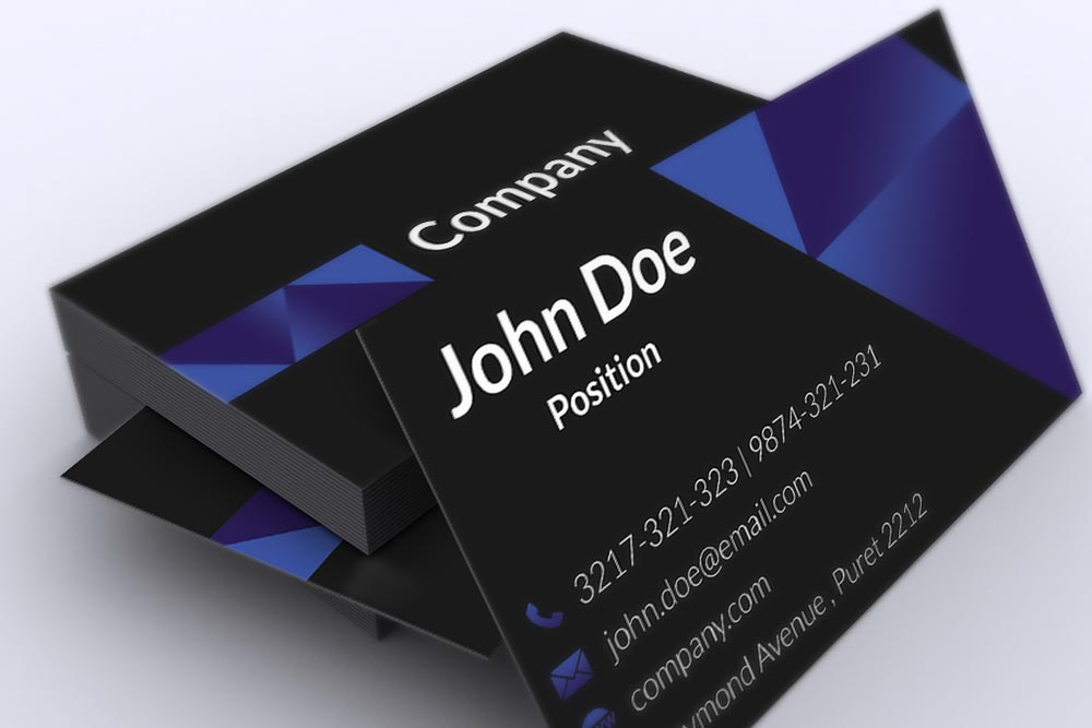 Dark Corporate Business Card Template by BorceMarkoski on DeviantArt