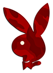 Camo Playboy Bunny Red #1
