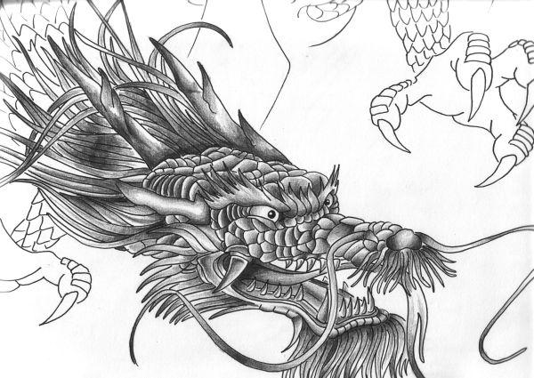 Chinese dragon head by Tatsu87