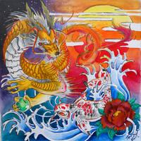 Dragon and Koi by Tatsu87
