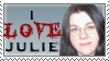 I Love Julie Stamp by KingBD